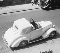 Overhead view of the Humber 12 drophead coupe