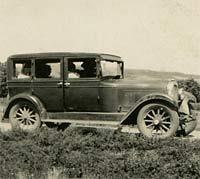 A Hupmobile saloon car