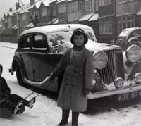 1948 Mk4 Jaguar in the snow