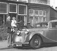 Post-war Jaguar 1.5 saloon car