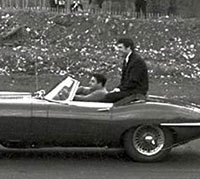 Tom Jones sat in a Series 1 E-Type Roadster