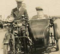 James motorcycle and sidecar