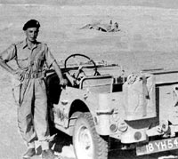Rear view of the Army Jeep in Suez
