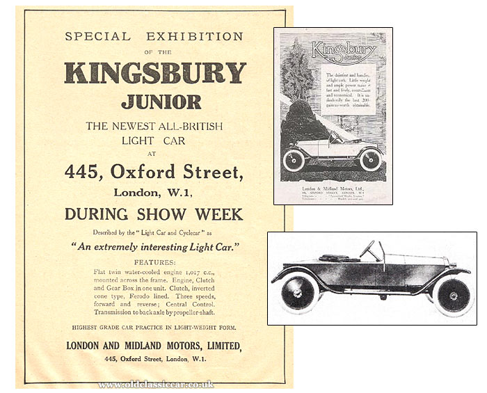Advertisement from 1919 for this car