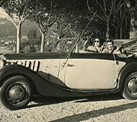 Original photo of a Lancia Belna Cabriolet