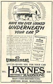 Underseal for your car at Haynes Brothers of Maidstone