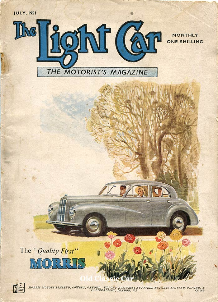 A Morris Six MS on the cover of The Light Car magazine