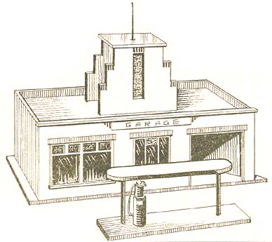 Design of the model garage