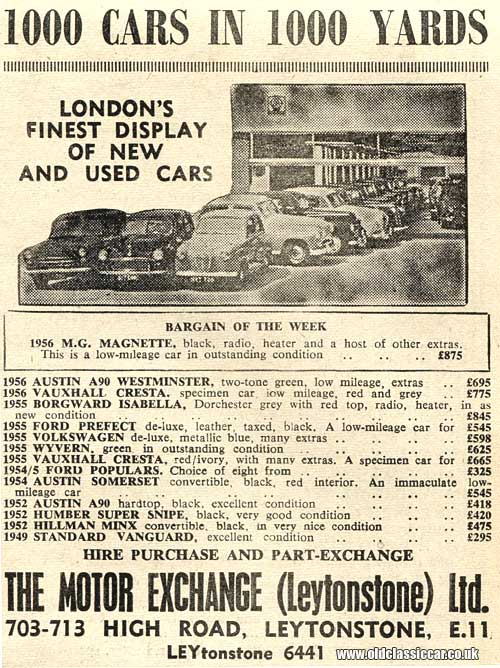 A car business called The Motor Exchange, in Leytonstone
