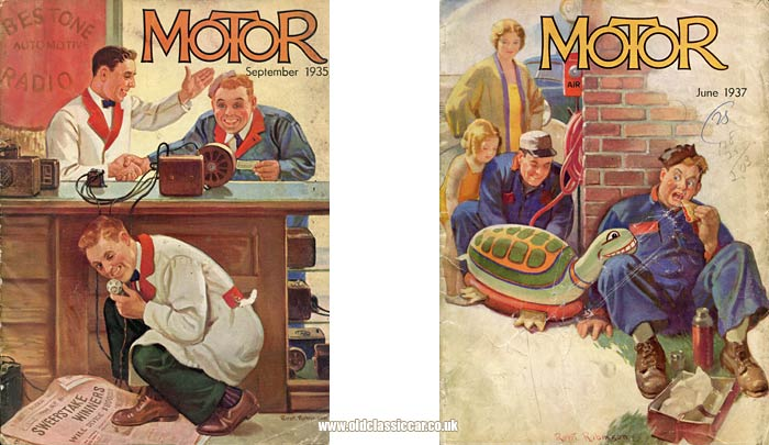 Cover of both magazines
