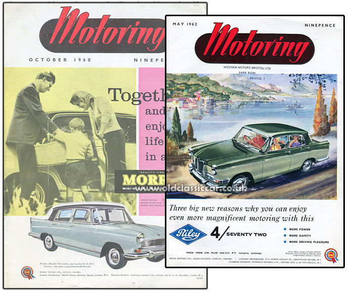 The Riley 4/72 car features on MOTORING magazine