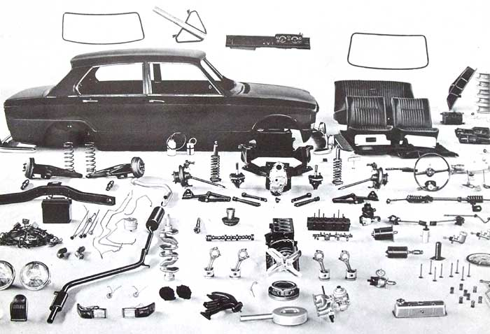 Stanpart spares for the Triumph 1300 saloon car