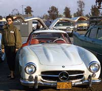 Gullwing Mercedes in 1956