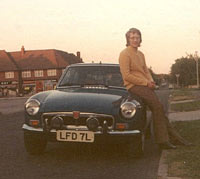 Keith with his MG