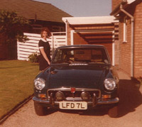 Front view, MGB GT chrome bumper version