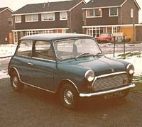 1971 Mini in blue
