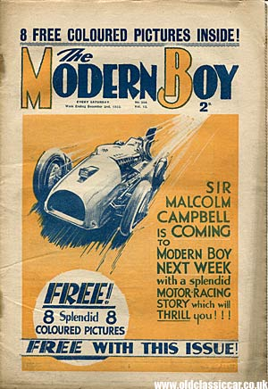 Blue Bird on the cover of Modern Boy comic, 1933