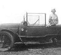 Side view of the Morgan Family car