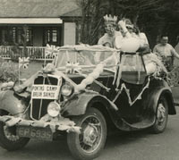 A Morris 8 tourer at a Pontin's holiday camp in 1954