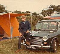 Morris at a campsite