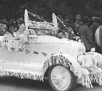 A bullnose Morris in use at a wedding