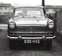 Front view of the Morris Oxford