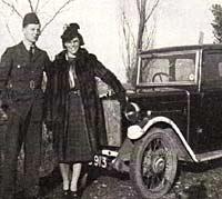 Pre-war Morris Minor saloon in WW2
