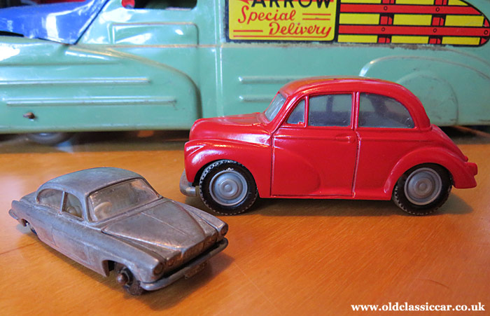 The completed restoration of my Morris Minor, with a Jaguar Mk10