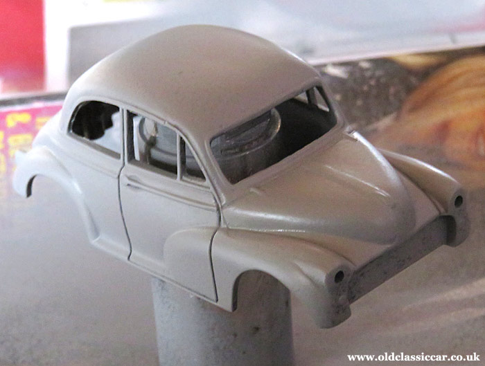 The bodyshell in primer