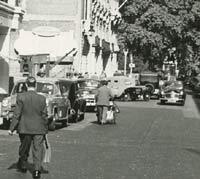 Morris car in London, 1954