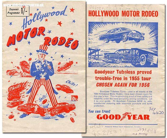 Programme for the 1956 Motor Rodeo in England