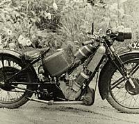 1929 Scott Super Squirrel motorcycle