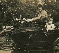 A motorcycle and sidecar registered in Manchester, 1920