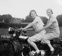 Ladies sat on an Ariel Sloper