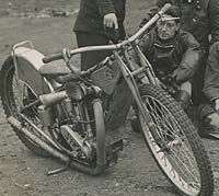 A closer look at this speedway bike