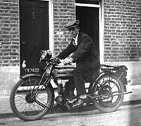 The Triumph and its owner