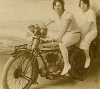 Vintage Triumph motorcycle of the 1920s