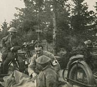 Motorcycles used by the Red Cross in WW1