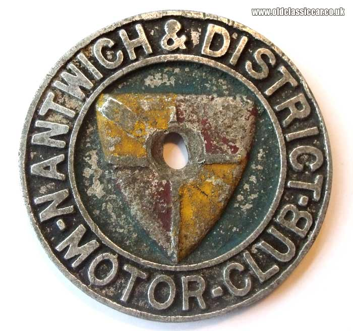 Nantwich & District car badge