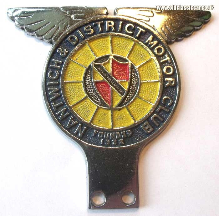 Post-war Nantwich & District car badge