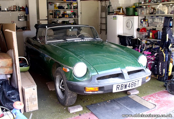 The MGB Roadster as found