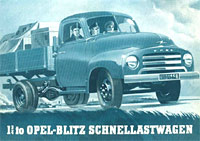 Cover of the Opel brochure for this truck
