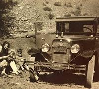 Vintage Willys Overland car, circa 1925