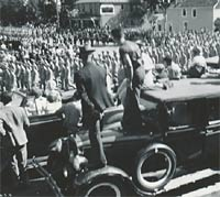 A 1940s parade in the USA
