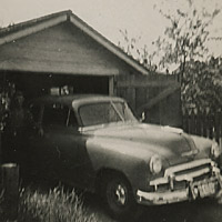1950 Chevrolet parked securely in a garage