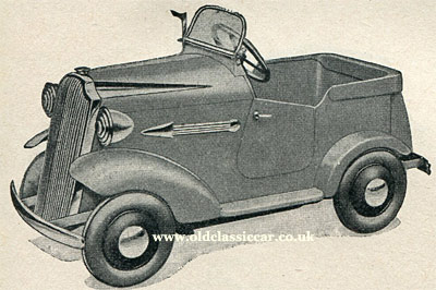Vauxhall pedal car from 1939