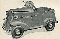 1930s Tri-ang pedal cars listed