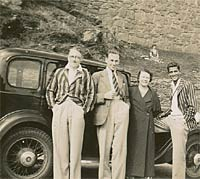 Dandy gents and their car in the 1930s