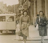 Two ladies, plus a van