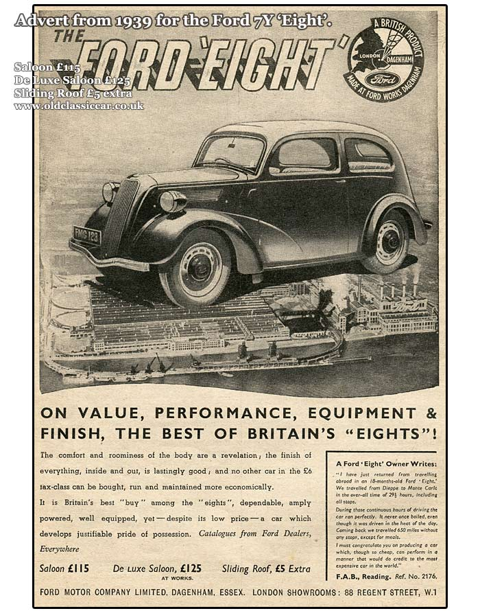 1939 advertisement for the Ford 7Y